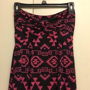 Rue21 Strapless Maxi Dress - Tribal Print